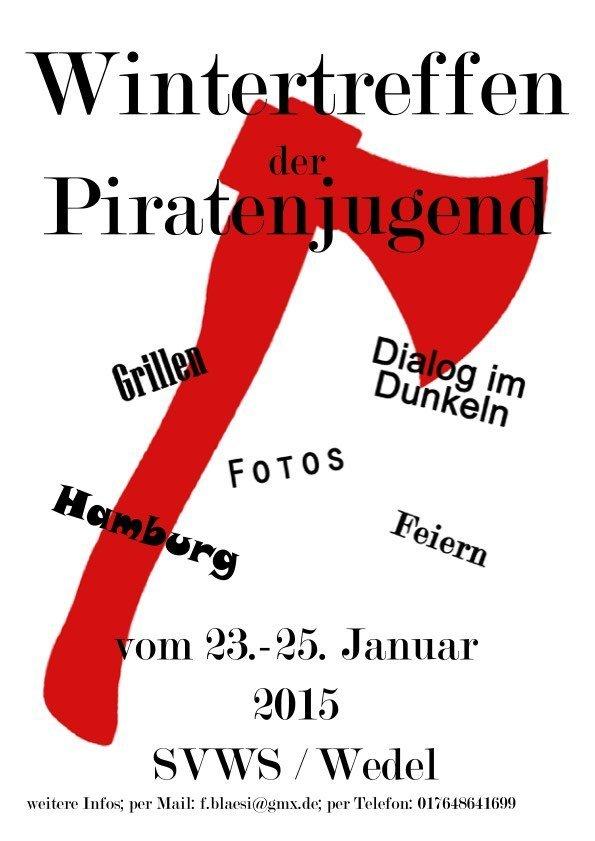 Piraten Wintertreffen 2015 Plakat